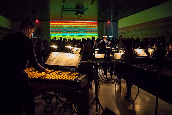 Ensemble Signal and conductor Brad Lubman perform Reich/Richter by Steve Reich.