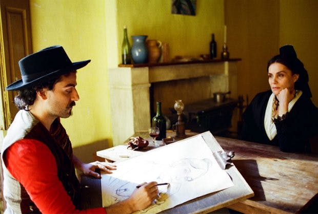 Oscar Isaac as Paul Cézanne and Emmanuelle Seigner as Marie Ginoux in 'At Eternity's Gate' (2018)