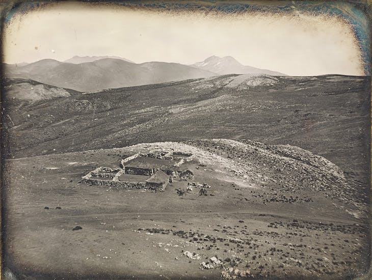 A Tambo in the Mountains at a Height of 16,000 Feet, Andes Mountains (1849), attributed to Robert H. Vance.
