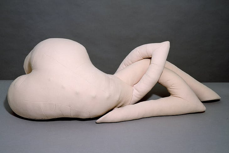 Nue couchée (Reclining Nude) (1969–70), Dorothea Tanning. Tate Collection.
