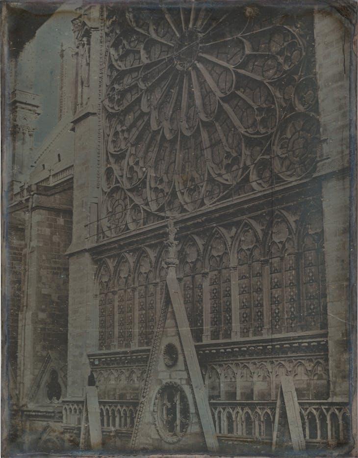 Rose Window, Notre-Dame Cathedral, Paris (1841), Joseph-Philibert Girault de Prangey.