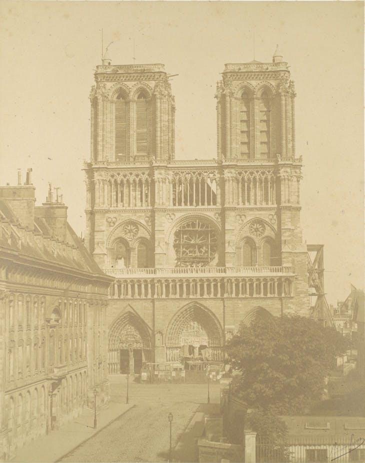 Notre Dame, Paris (1850s), Bisson Frères.