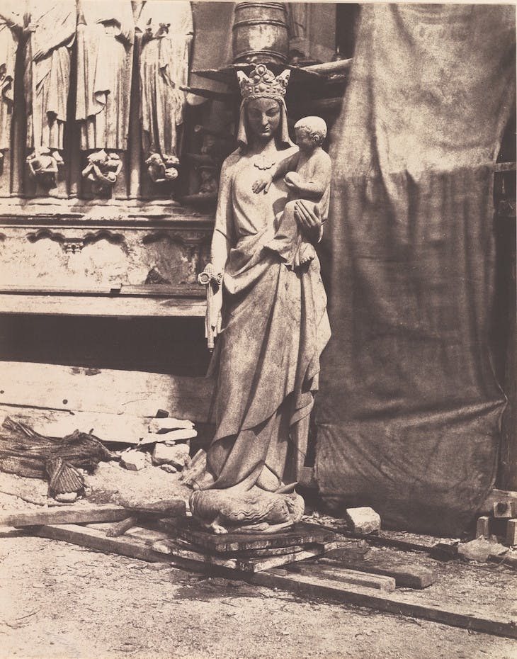 Sculpture of Virgin and Child, Notre Dame, Paris (1853–54), Auguste Mestral.