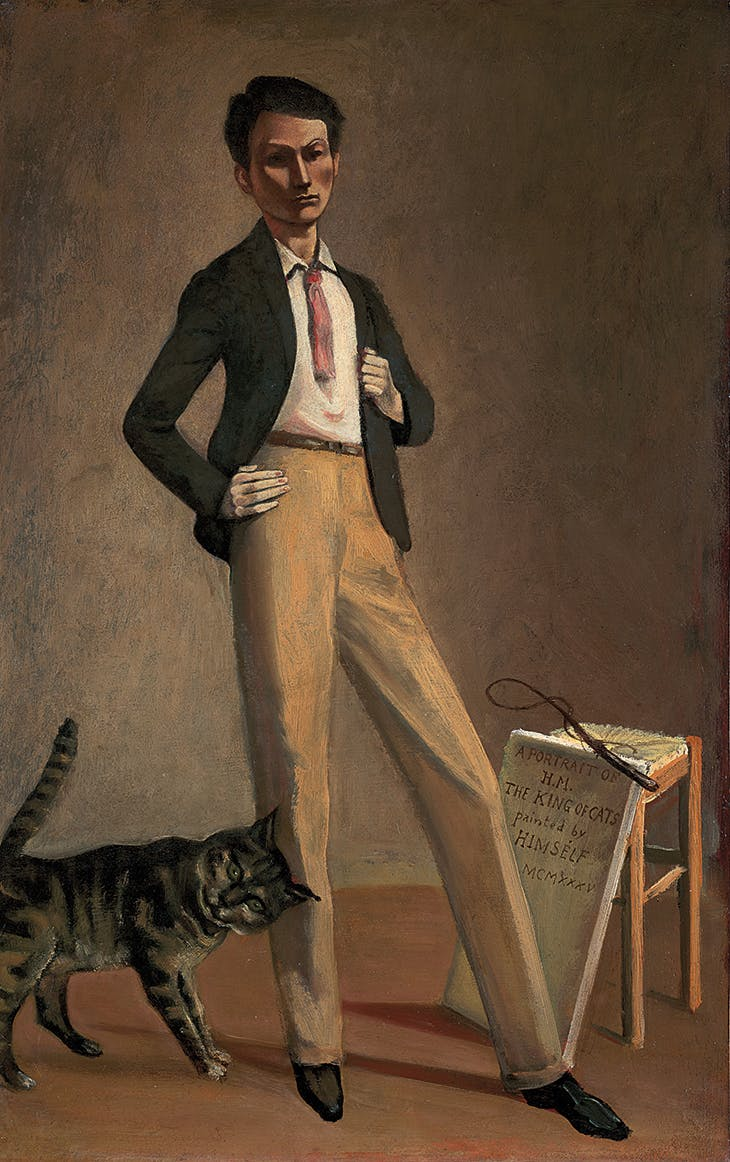 The King of Cats (1935), Balthus. Musée cantonal des Beaux-Arts de Lausanne.