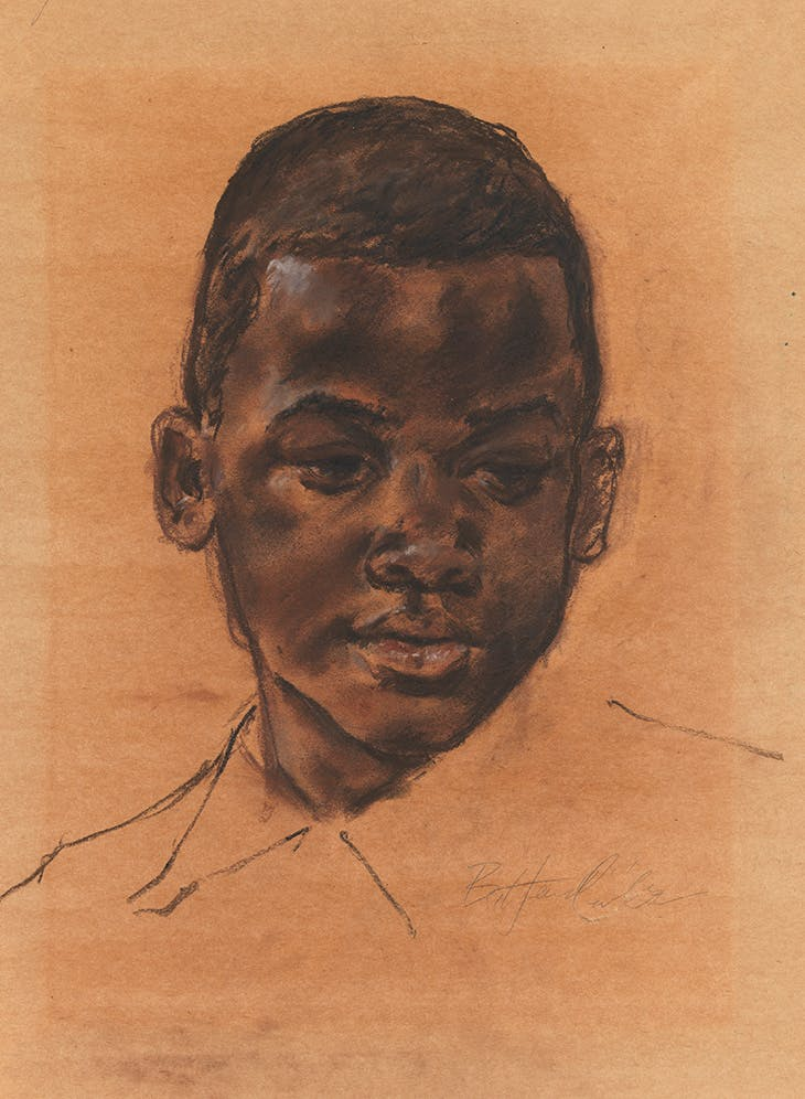 Head of a boy (n.d.), Barkley L. Hendricks.