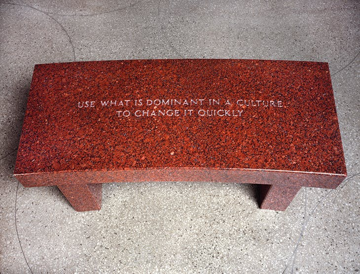 Survival: Use what is dominant… (showing text from Survival, 1983–85) (1989), Jenny Holzer