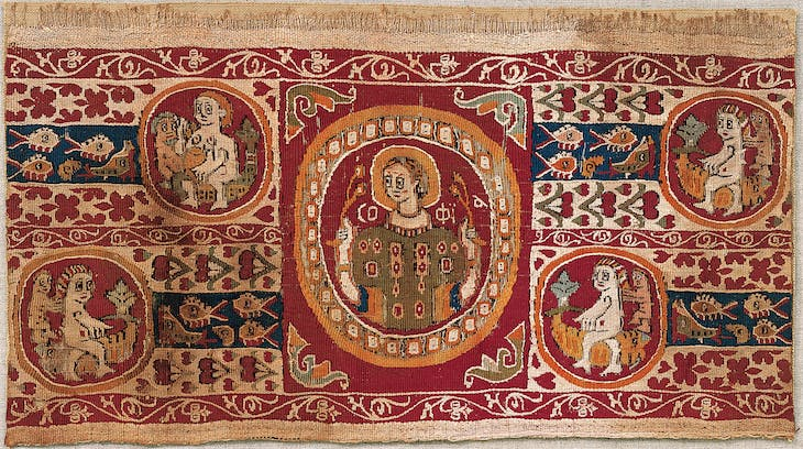 Tapestry sleeve ornament (7th–9th century) Egypt.