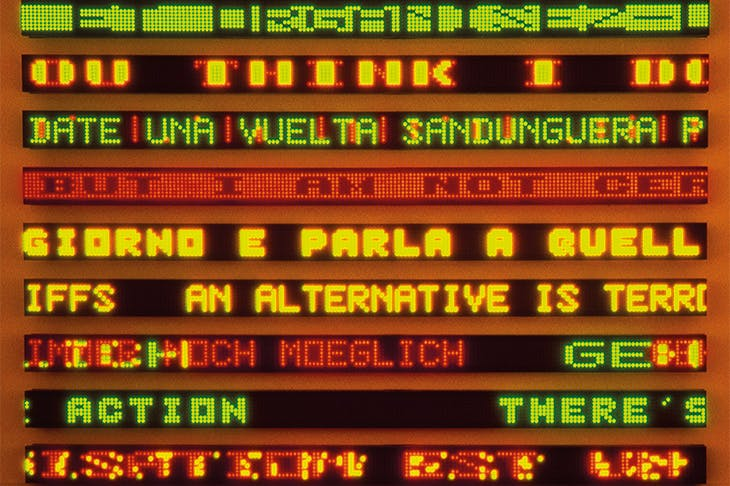 The Venice Installation: The Last Room , showing texts from several series (detail; 1990), Jenny Holzer.