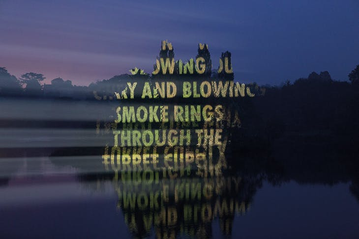 ON WAR (2017) (showing text from The Not Forgotten Association), Jenny Holzer, photograph documenting the