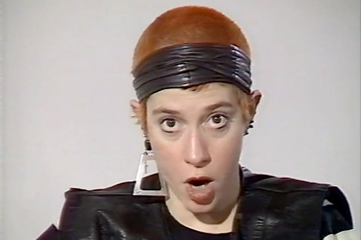 Kathy Acker in conversation with Angela McRobbie at the ICA, 1987.
