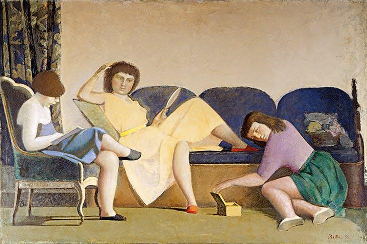 The Three Sisters (1955), Balthus. Colección Patricia Phelps de Cisneros.