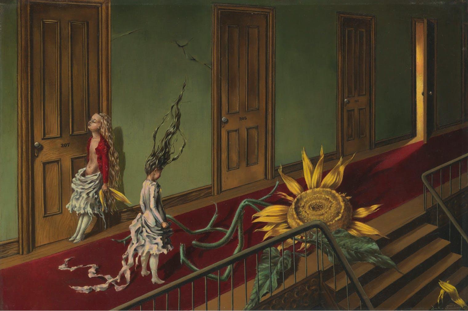 Eine Kleine Nachtmusik (1943), Dorothea Tanning. Tate Collection.