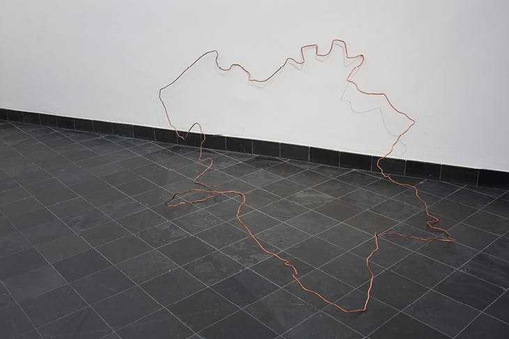 Map tracing (2017), Shilpa Gupta.