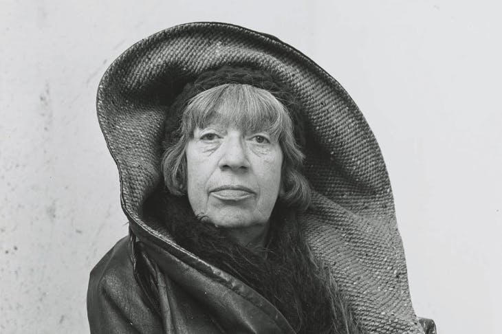 Detail of photograph of Lee Krasner in Springs, New York, 1972, by Irving Penn.