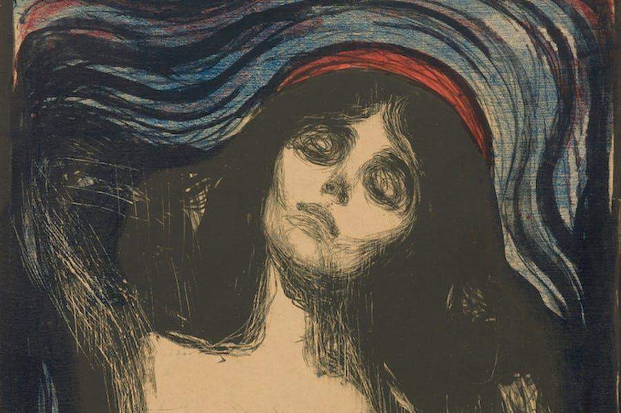 (detail; 1895/1902), Edvard Munch.