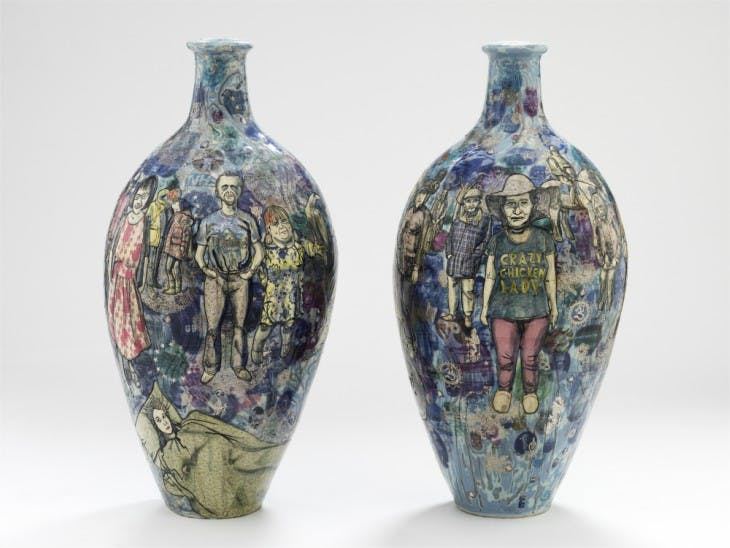 Matching Pair (2017), Grayson Perry.