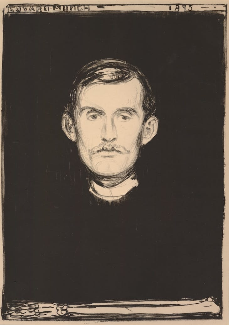 Self Portrait (1895), Edvard Munch.