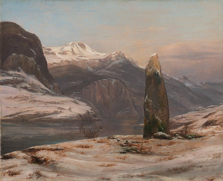 Winter at the Sognefjord (1827), Johan Christian Dahl. National Museum of Art, Architecture and Design, Oslo