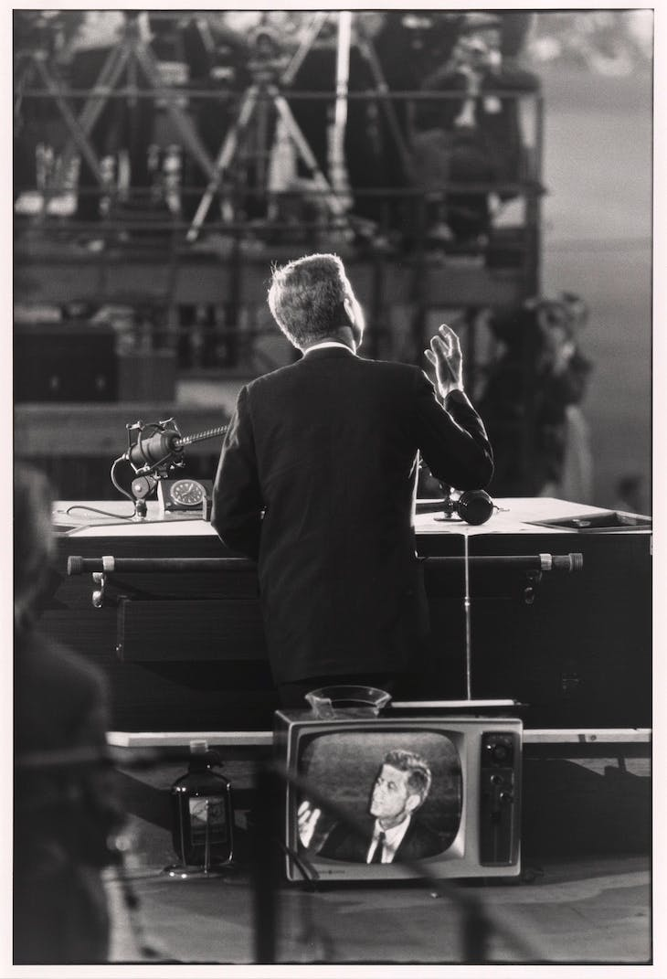 John F. Kennedy (1960; printed 1983), Garry Winogrand.