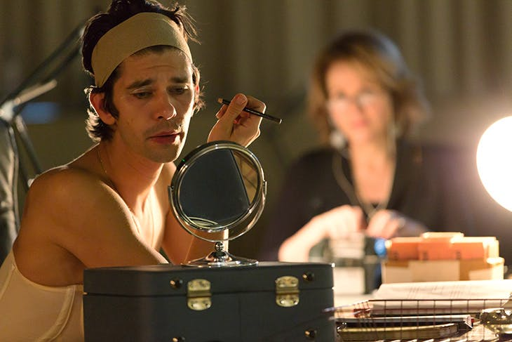 Renée Fleming and Ben Whishaw at the Jerwood Studios in London in rehearsals for Anne Carson's Norma Jeane Baker of Troy, directed by Katie Mitchell, with music composed by Paul Clark.