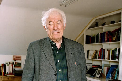 Seamus Heaney (1939–2013) at home in Dublin