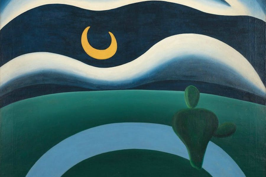 The Moon (A Lua) (1928; detail), Tarsila do Amaral.