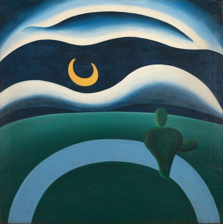 The Moon (A Lua) (1928), Tarsila do Amaral.