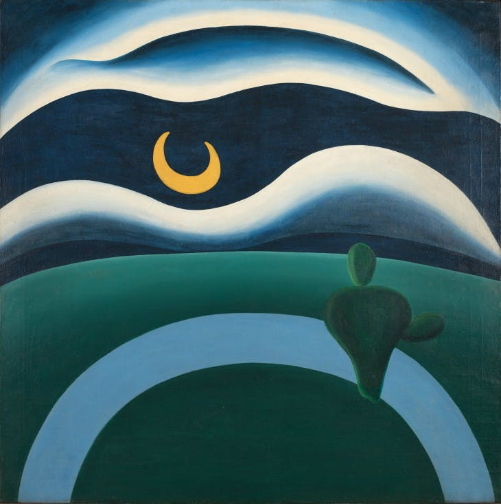 The Moon (A Lua) (1928), Tarsila do Amaral.