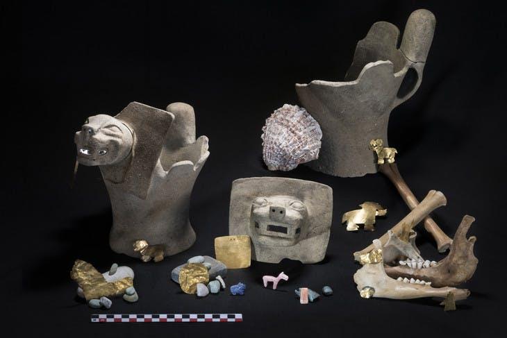 Ritual offerings found at Lake Titicaca. Photo: Teddy Seguin