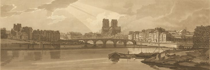 View of Pont de la Tournelle and Notre Dame taken from the Arsenal