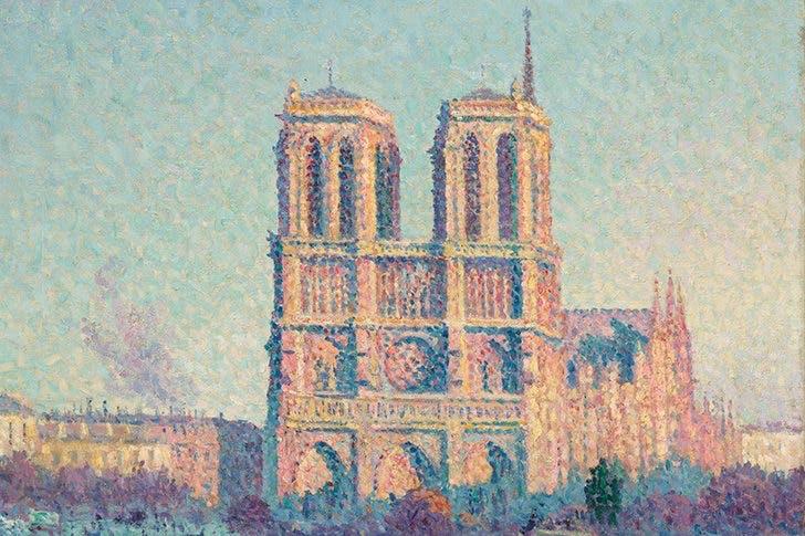 Le Quai Saint Michel et Notre-Dame de Paris (detail; 1901), Maximilien Luce. Musée d'Orsay, Paris.
