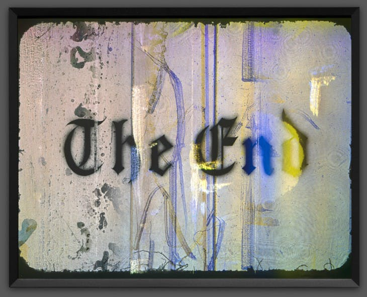 The End (2017), Ed Ruscha.