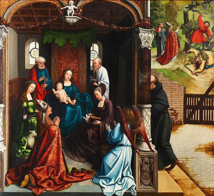 The Virgin and Child Venerated by Saint Martin and Other Saints (c. 1510–15), Bernard van Orley