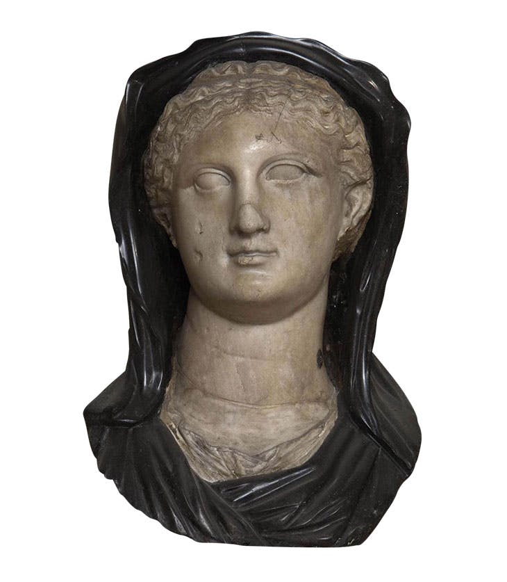 Portrait of a woman (Arsinoë II?) (probably early 1st century AD after a Hellenistic original, with 16th-century additions). Museo Archeologico Nazionale di Venezia