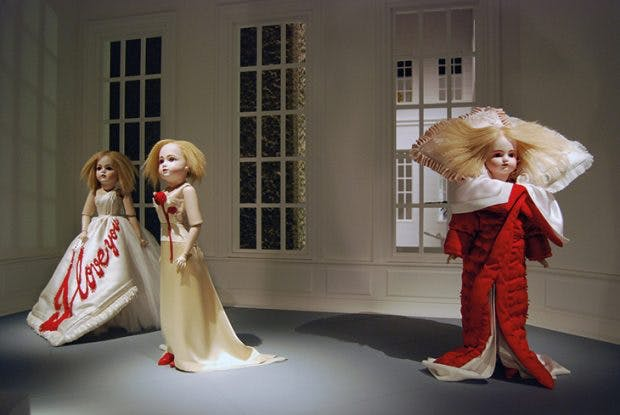 Installation view of 'The House of Viktor & Rolf' at the Barbican Art Gallery, London, in 2008, photo: Lyndon Douglas; courtesy Barbican Art Gallery