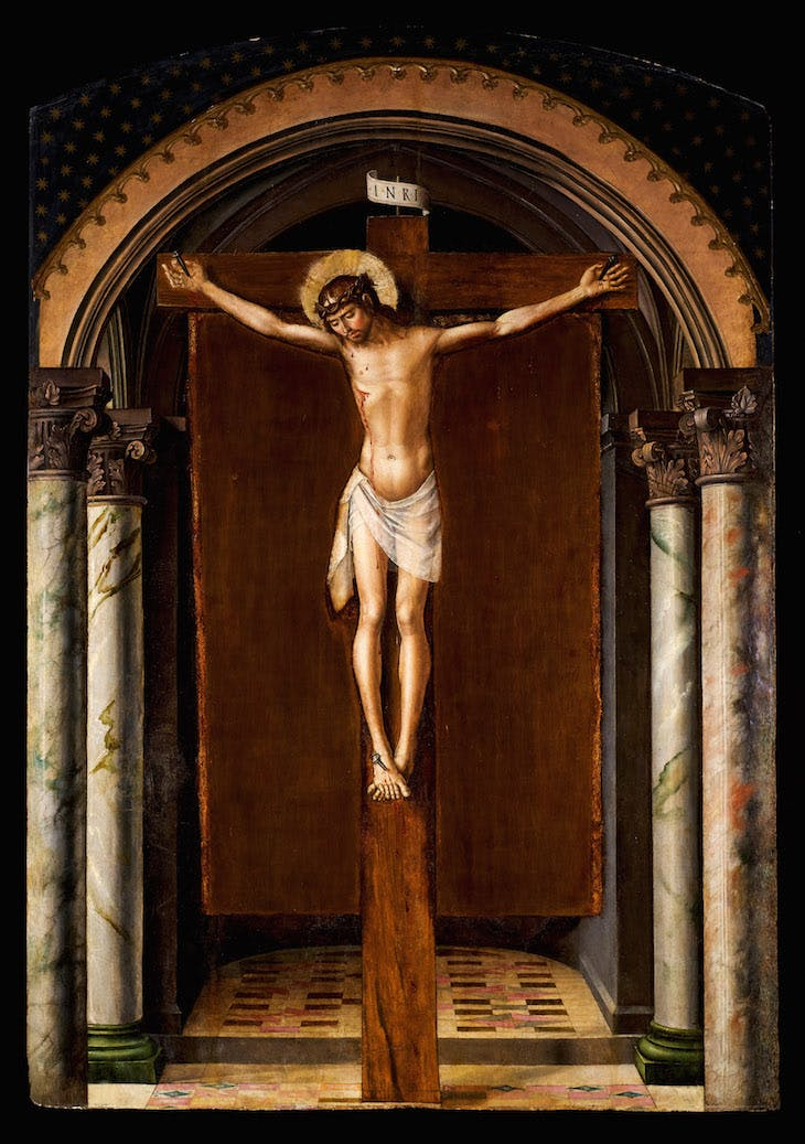Christ on the Cross (c. 1493–98), Pedro Berruguete.