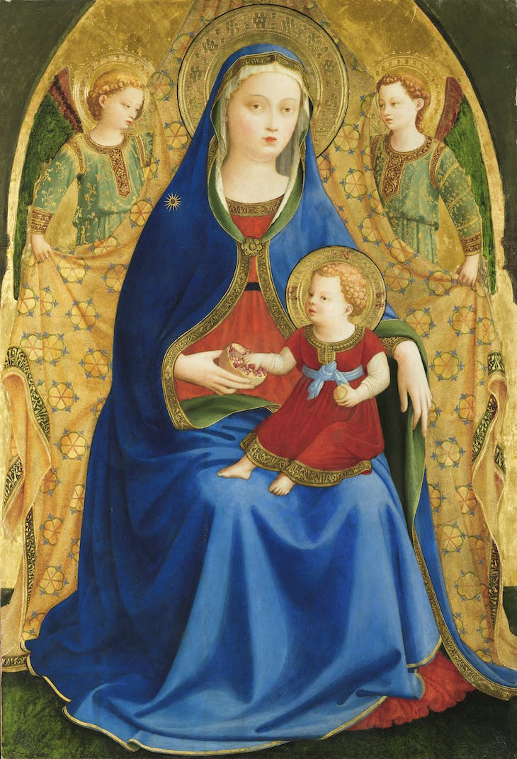 Virgin of the Pomegranate (c. 1424–25), Fra Angelico.
