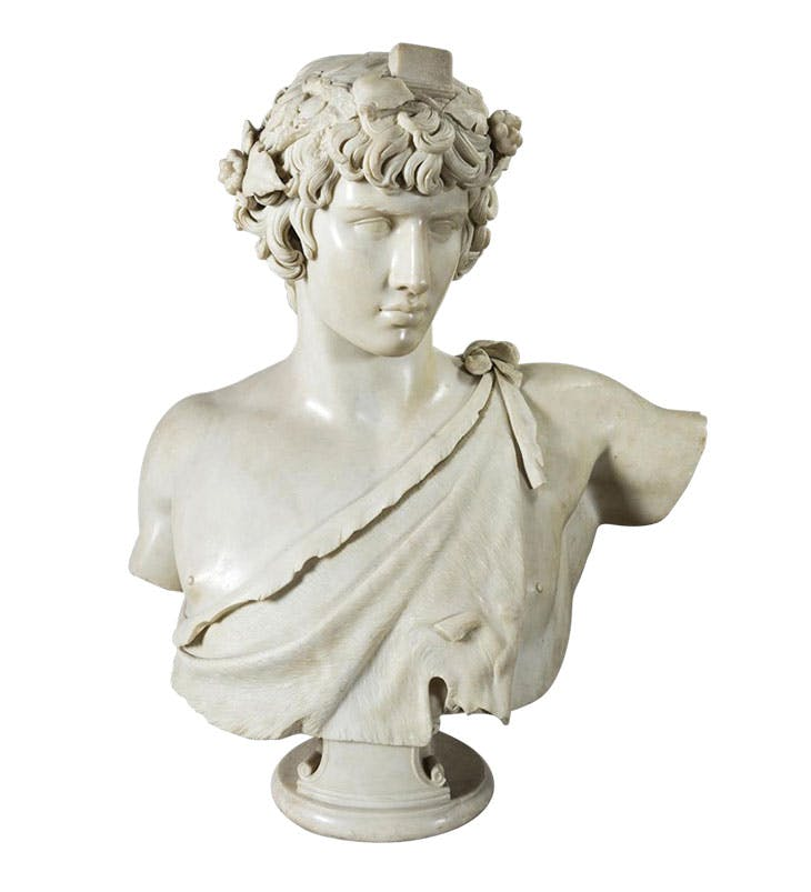 Bust of Antinous depicted as Dionysus, (AD 130–38 with 16th-century additions). Museo Archeologico Nazionale di Venezia.