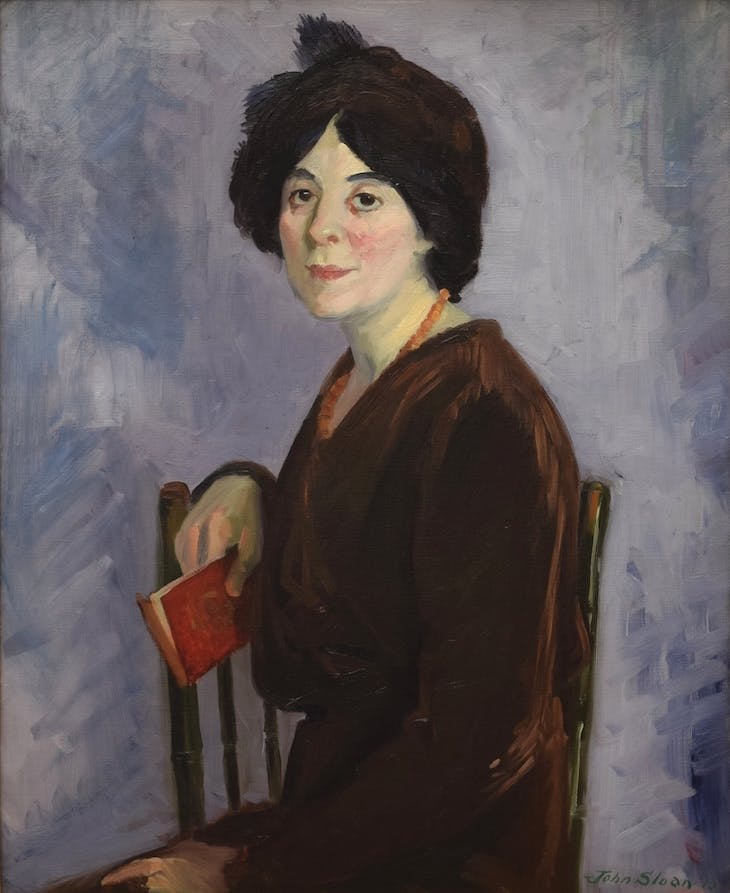 Henrietta with Red Book (1913), John French Sloan.