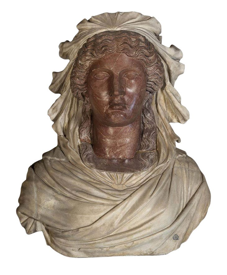 Bust of a woman (Roman copy (AD 117–138) of a Greek original (second half of 5th century BC), with 16th-century additions). Museo Archeologico Nazionale di Venezia.