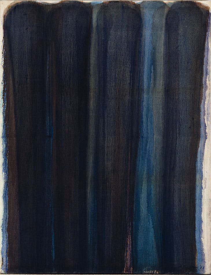 Burnt Umber & Ultramarine (1973), Yun Hyong-keun. Collection of MMCA, Seoul.
