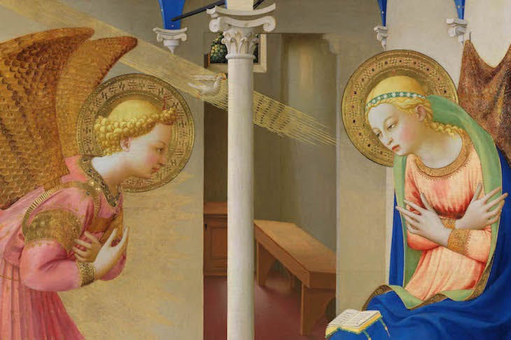 The Annunciation (detail;1425–26), Fra Angelico.