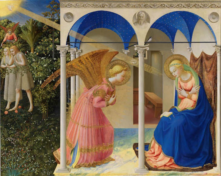 The Annunciation (1425–26), Fra Angelico.