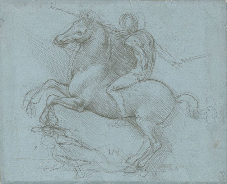 A design for an equestrian monument (c. 1485–88), Leonardo da Vinci.