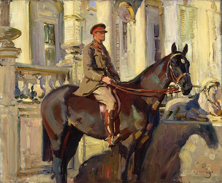 Captain Prince Antoine of Orleans and Braganza (1918), Alfred Munnings.