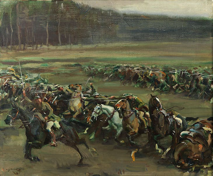 Charge of Flowerdew's Squadron (1918), Alfred Munnings.