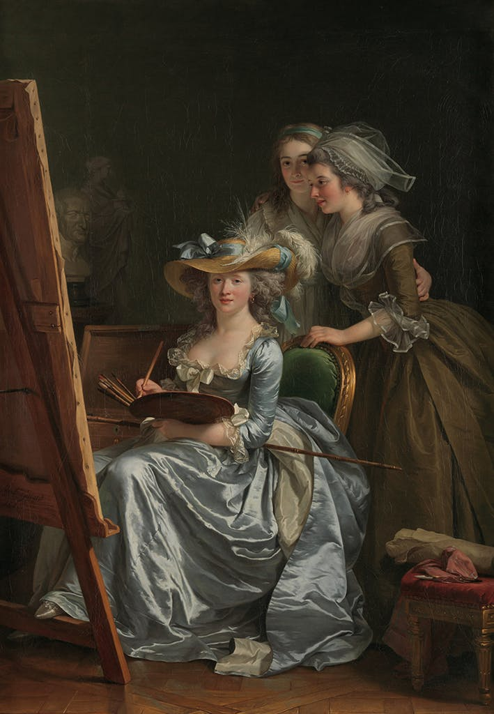 Self-Portrait with Two Pupils, (1785), Adélaïde Labille-Guiard, Metropolitan Museum of Art, New York
