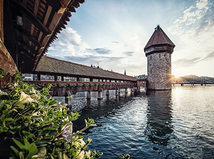 The Chapel Bridge, Lucerne.