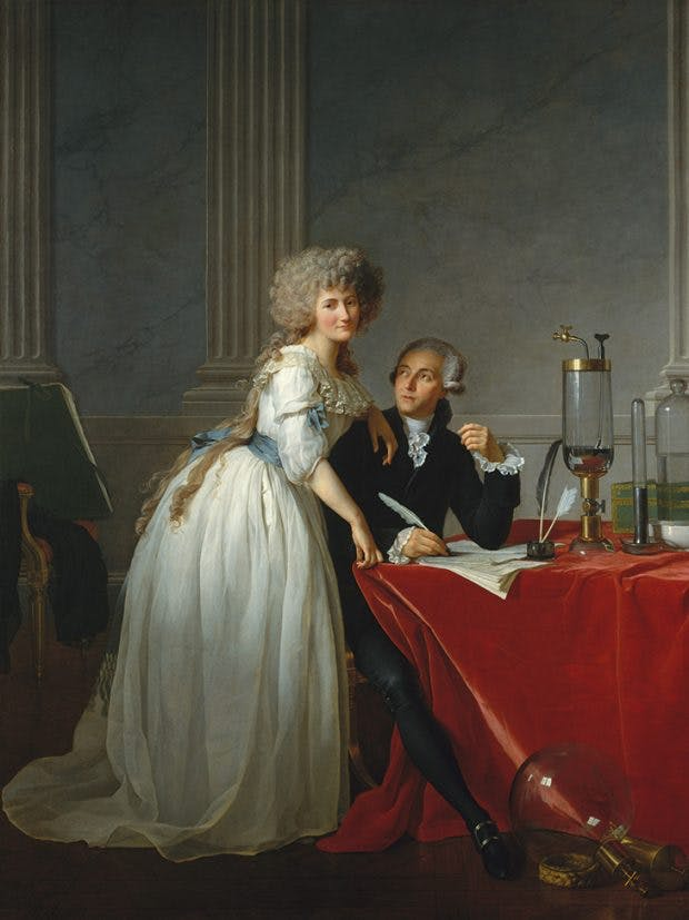 Antoine Laurent Lavoisier and His Wife (1788), Jacques-Louis David, Metropolitan Museum of Art, New York