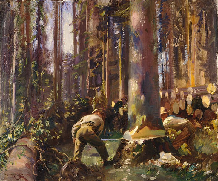 Felling a Tree in the Vosges (1918), Alfred Munnings.